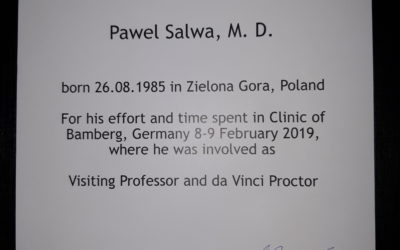 Visiting Professor and da Vinci Proctor – wyjątkowe wyróżnienie doktora Pawła Salwy